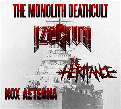 Nox Aeterna show with The Monolith Deathcult and Izegrim