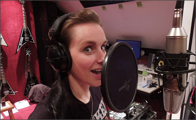 Nox Aeterna recording backing vocals