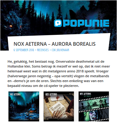 Nox Aeterna - Review by Popunie